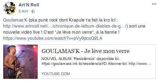 Goulamas'K Art N roll