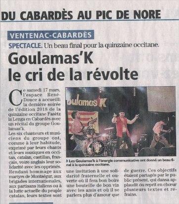 l'indépendant Goulamas'K